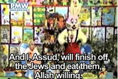 Pupujussi kouluttaa 'palestiinalaislapsia' Pallywwodia varten.