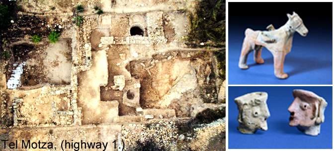 Kulttikansan synnit kaivettu esiin: Tel Motzan riittilinna.